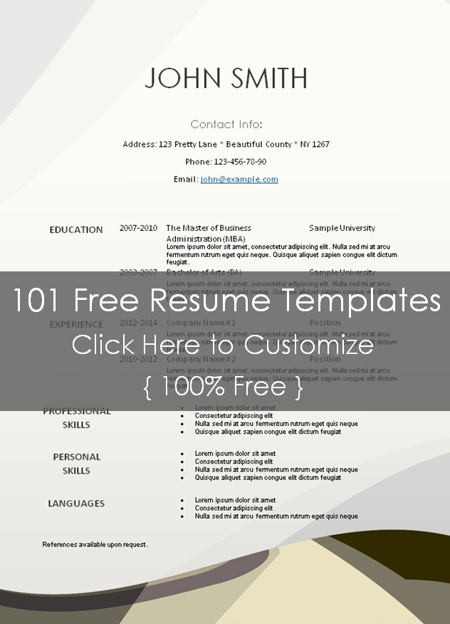 Resume Templates  Free Printable Resume Templates Research Analyst