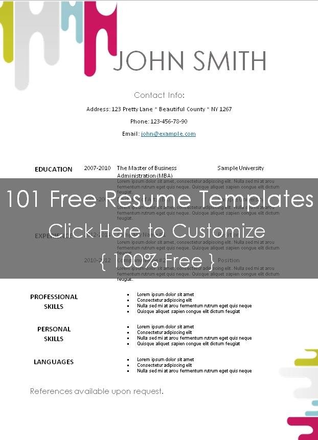 Free resume templates for pastors