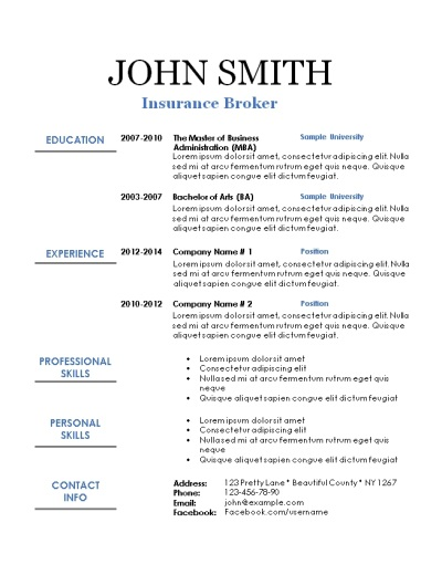 printable sle resume templates 28 images free resume