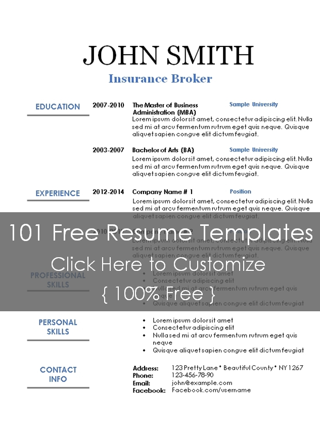 Page not found - 101 Resume Templates