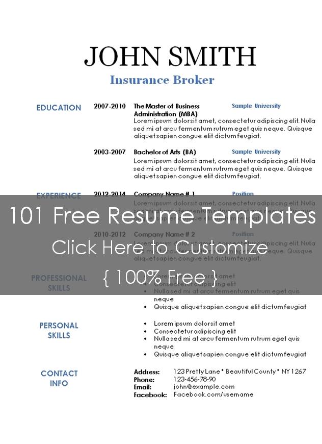 Blank Resume Template