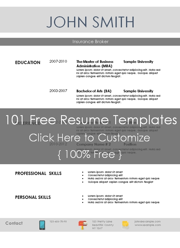 Resume 101 Templates Basic Resume Template 101 Resume