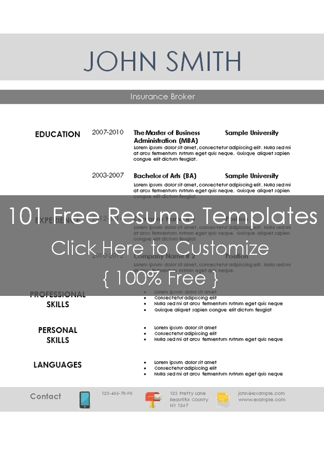 download - Resume Templates 101