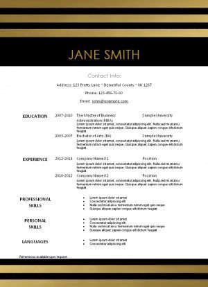 Image Result For Resume Templates On Word