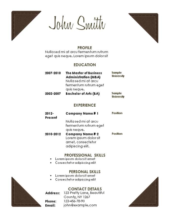free resume template. modern resume template 101 resume ...