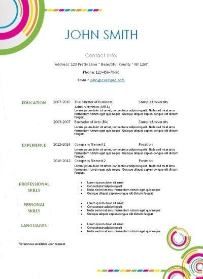 free resume template LiveCareer