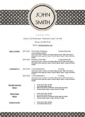 resume template with a pattern that will ensure that it sticks out