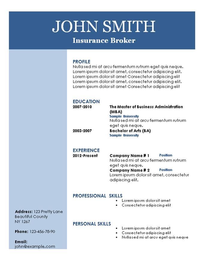 basic resume template 101 resume templates. modern resume template ...