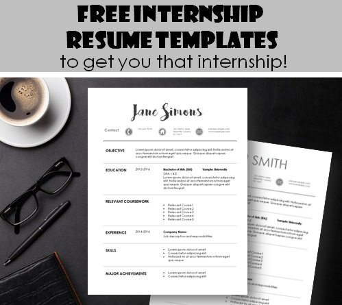 internship resume template - Resume For Internship Template